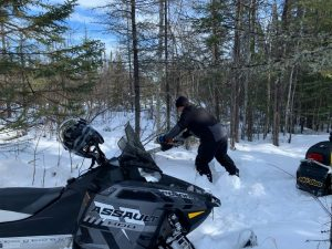 Cranberry Portage to Snow Lake trail